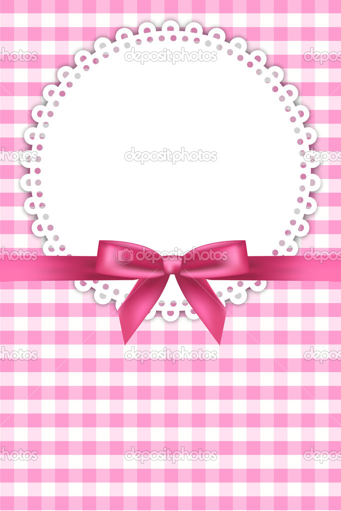 Pink Baby Ribbon Clipart Vector baby pink background