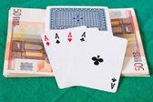 Poker and money — Stock Photo