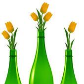 Zelená skleněná láhev — Stock fotografie