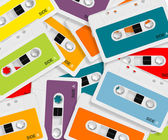 Colored Audio casette — Stock Photo