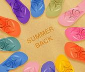 Beach flip flops — Stock Photo