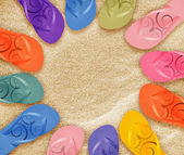 Beach flip flops — Stock Photo