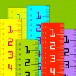 Millimeter and inch rulers — Stock Photo