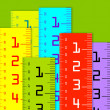 Millimeter and inch rulers — Stock Photo #11897636