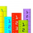 Millimeter and inch rulers - Stock Photo