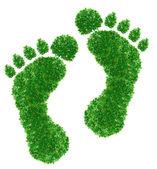 Green footprint Sign — Stock Photo