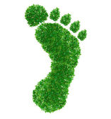 Green footprint Sign — 图库照片