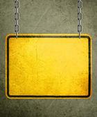 Yellow Sign — Stock Photo