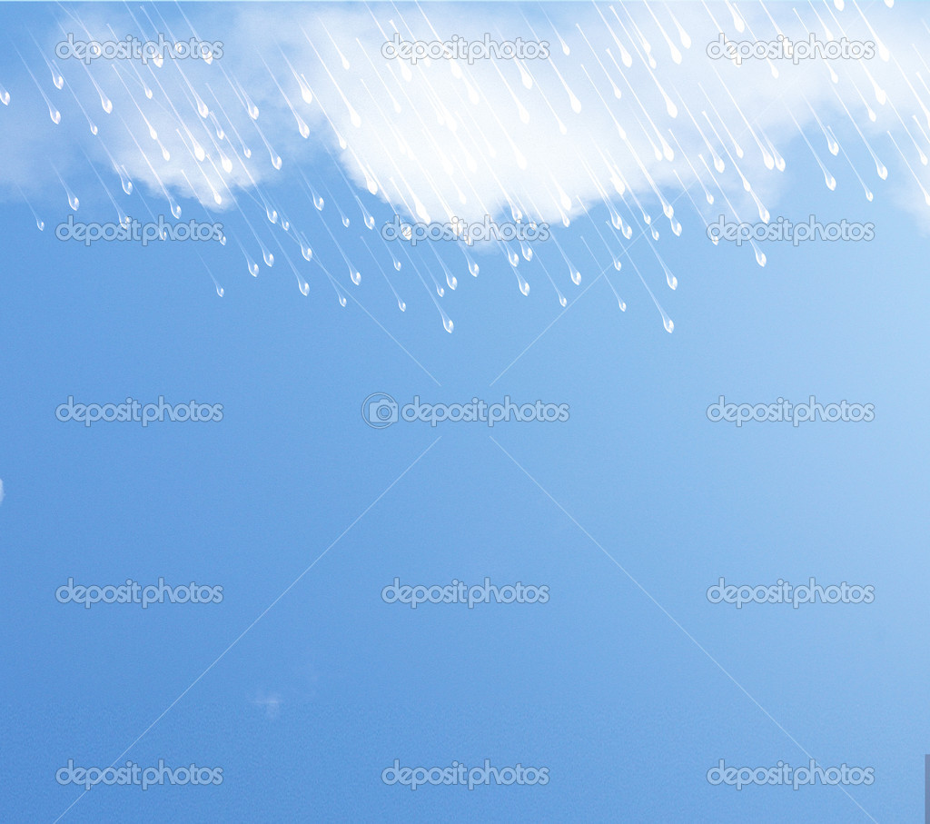 Background with rain and clouds. — Stock Photo #11895263