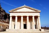 Greek temple in Kerkyra — Stock Photo