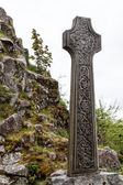 Celtic grave stone on a hill — Stock Photo
