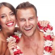 Couple enjoying their honeymoon - Stock Photo