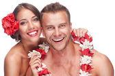 Couple enjoying their honeymoon — Stock Photo