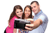Happy taking picture of themselves — Stock Photo