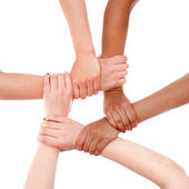 Hands ring teamwork — Stock Photo