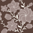 Vector floral seamless pattern — Stock Photo