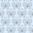 Royalty-Free Stock Photo: Vector seamless butterfly background