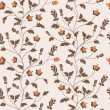 Vector seamless floral background — Stock Photo