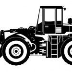 Heavy equipment loader — Stock Vector