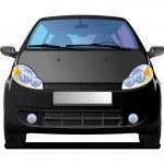 黒い車 — ストックベクタ