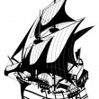 Galleon - Stock Vector