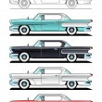 auto d'epoca - anni 60 — Vettoriale Stock