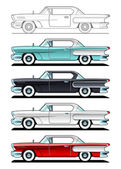 Classic Cars - 60s — Stock Vector