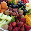 Mixed fruit platter — Stockfoto
