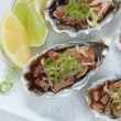 Oysters Kilpatrick close-up — Stock Photo