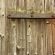Plain Wooden Door With Rusty Hinge — Stock Photo #10944663