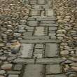 Stock Photo: Design in Cobbled Road