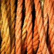 Orange and yellow or gold coloured rope — Stock Photo