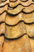 Pantile roof with loose tile — Stock Photo