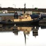 Tug moored at Leith Docks, Edinburgh, Scotland — Stock Photo #11114984