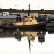 Tug moored at Leith Docks, Edinburgh, Scotland — Stock Photo