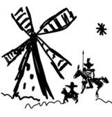 Don Quixote and Sancho Panza — Stock Photo