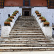 Foto Stock: ENTRANCE WITH STAIRS - RINPUN DZONG IN PARO - BHUTAN.