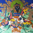 Hand Painted Mural of Bhuddist tale in Mongar Dzong - Bhutan — Stockfoto