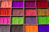 Selling bright colours in Nepal — Stock Photo
