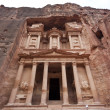 Stock Photo: Treasury in Petr- famous temple of IndianJones in Jordan
