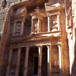 The Treasury in Petra - the famous temple of Indiana Jones in Jordan - Stock Photo