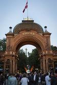 Tivoli entrance gate - Copenhagen - Denmark — Stock Photo