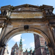 Entrance gate of Frederiksborg Slot castle in Hillerod, Denmark — Stock Photo