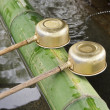 Stock Photo: Purification Ladles At Shrine