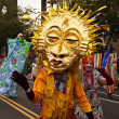 Sun Mask In The Parade - Stock Photo