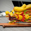 Dragon head of traditional boat — Stock Photo