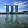 The Marina Bay Sands Resort Hotel - Foto Stock