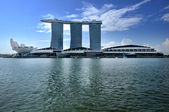 De marina bay sands resort hotel — Stockfoto