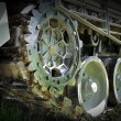 Stock Photo: Military tank wheel