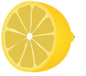 Lemon half — Stock Vector